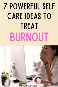 Read the signs of burnout to see if you are in a state of mental health that needs self-care. These 7 Powerful Self Care Ideas to Treat Burnout work! Stress Burnout, Burnout Recovery, Stress And Anxiety, Health Goals, Mental Health, Feeling Burnt Out, Destress, Feeling Stressed