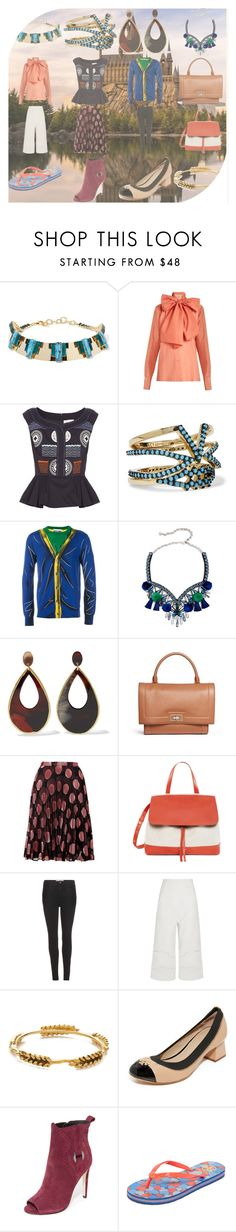 """""""good collections"""" by veeranalla ❤ liked on Polyvore featuring Elizabeth Cole, Mafalda von Hessen, Peter Pilotto, Noir Jewelry, Moschino, Shourouk, Kenneth Jay Lane, Givenchy, Marco de Vincenzo and Mansur Gavriel"""