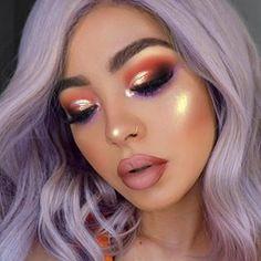 .  .  FACE  ———  @haleysbeauty Foundation & @maccosmetics X @patrickstarrr powder... @physiciansformula matte bronze booster... @coverfx Glow ❤️  .  .  EYES  ———  @bhcosmetics Gilded Palette, @limecrimemakeup Diamond crushers as a glitter topper. @juviasplace for the purple shade... @covergirl Fine & Define on brows  .  .  LIPS  ———  @gerardcosmetics Sedona with @toof