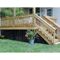 Deck skirting is an important part of a deck. There are many ways to design it. You can make a deck more interesting with our deck skirting ideas here