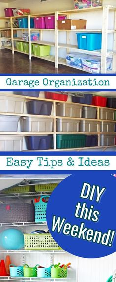 Tools and garage organization hacks. What is the cheapest way to organize a gara… Tools and garage organization hacks. What is the cheapest way to organize a garage? Small Garage Organization, Garage Storage Solutions, Diy Garage Storage, Garage Shelving, Garage Shelf, Organization Hacks, Organizing Ideas, Organizing Clutter, Garage Doors
