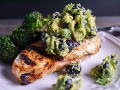 Barbells and Bellinis: Grilled Chicken with Blueberry Guacamole