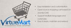 Navabrind IT Solutions, the best offshore Joomla and wordpress development company in India,Virtuemart is a open source shopping cart software plugin for Joomla.We are providing the VirtueMart websites installation,maintain and development services.  Details:  http://www.navabrinditsolutions.com/joomla-virtuemart-solutions.html