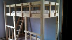 Coolest homemade loft bed ever!!! Thanks Paw Paw!!!