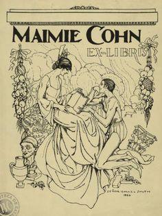 Ex-libris Maimie Cohn :: Materials gràfics (Biblioteca de Catalunya)