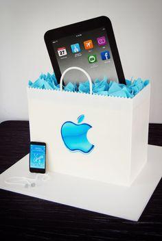 Real looking iPad grooms cake