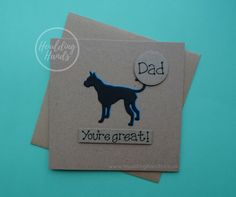 Happy Birthday Dad Card / Great Dane Father's Day by HouldingHands