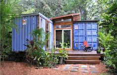 Eco-Friendly House Made From Shipping Containers