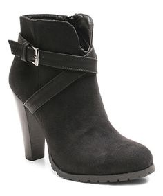 Loving this Black Strap Lito Bootie on #zulily! #zulilyfinds