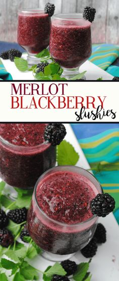 Having friends over? Want a glass of wine but also want something cool and refreshing? Love red wines? Then you will want to make these Merlot & Blackberry Wine Slushies! Even if you aren't a Merlot fan, you can always use a sweet red wine like Port or Pinot Noir! Grab that blender (like the …