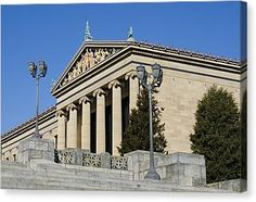Philadelphia Museum Of Art Canvas Print by Brendan Reals
