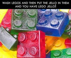 Actually, i never tried this, legos are not hollow in a way to make these! This will not work, they sell lego brick molds though, which is how these were actually made.