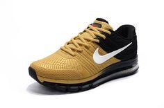 be37d1598f78 Nike Air Max Shoes Cheap - Brand New Nike Air Max 2017 Black Khaki Mens  Sneaker Discount Sale