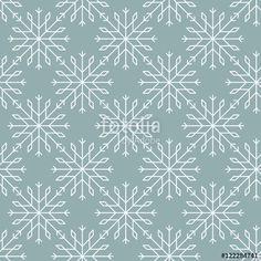 """Скачивайте роялти-фри векторное изображение """"Snowflakes pattern seamless line art"""", созданое Molnia по самой низкой цене на Fotolia.com. Полистайте наш банк изображений и найдите идеальный стоковый вектор для вашего маркетингового проекта!"""