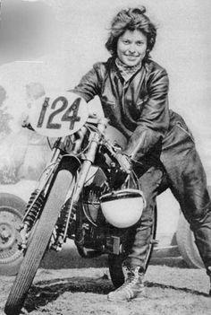 Helga Steudel, East-German motor bike racer