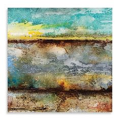 Add depth and color to your wall with this canvas giclee wall art by artist John Douglas. It evokes the sea at sunset.