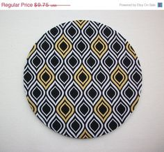SALE  Mouse Pad mousepad / Mat  round  metallic gold by Laa766  chic / cute / preppy / computer, desk accessories / cubical, office, home decor / co-worker, student gift / patterned design / match with coasters, wrist rests