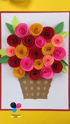 Paper Flowers Craft, Quilling Paper Craft, Paper Crafts Origami, Easy Paper Crafts, Diy Crafts For Gifts, Flower Crafts, Creative Crafts, Handmade Crafts, 3d Paper