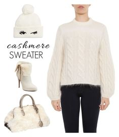 """""""Cozy Cashmere Sweaters"""" by yours-styling-best-friend ❤ liked on Polyvore featuring Kate Spade, Fendi, Rochas and Jennifer Lopez"""