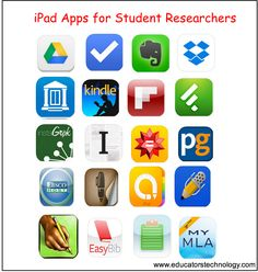 20 Must-have iPad Apps for Student Researchers and Academics Educational Technology and Mobile Learning Educational Websites, Educational Technology, Assistive Technology, Ipad Apps, Library App, Teaching Technology, Technology Integration, Research Skills, Information Literacy