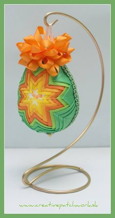 Veľkonočné patchworkové vajíčko 8 cm