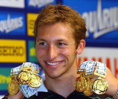 """Ian Thorpe, Australia: 5 gold medals and the first person to be named Swimming World Swimmer four times. Briefly """"retired"""" at the age of 24 but is back to snag his own records. Ian Thorpe, Famous Swimmers, Jake Dalton, Australia Olympics, Sheryl Swoopes, Robbie Rogers, Chris Mears, Julian Wilson, Swimmers"""