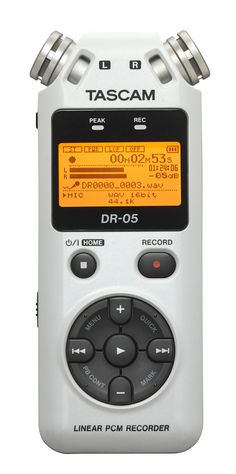 TASCAM DR-05...a very portable, very fine, audio recorder, perfect for late podcast recording sessions or capturing an interview with the CEO of the web startup that just went public.
