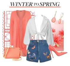 """""""Winter to Spring Layers"""" by teez-biz-nez ❤ liked on Polyvore featuring WearAll, Valentino, Vintage America, Jimmy Choo, Wintertospring and plus size clothing"""