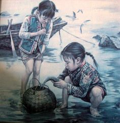 Artist: Kee Fung Ng (Chinese) title unknown, Children of Aberdeen