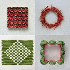 The Geometric Food Art of Sakir Gökçebag http://www.thisiscolossal.com/2012/10/the-geometric-food-art-of-sakir-gokcebag