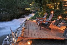 This deck is very simple, yet nature such as this doesnt need to be upstaged by decks. Instead, te perfect accompaniment is the simplest, yet most useful deck that blends with nature. I have the perfect location in mind to build a deck such as this o