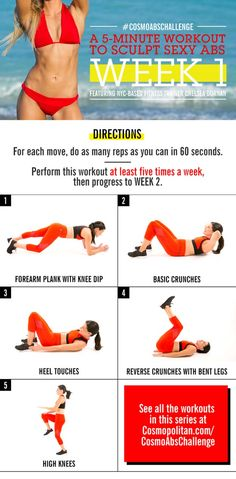 Five Minute Workouts - Here's How To Get A Stomach That's Toned AF in 28 Days- Get a Great Full Body - thegoddess.com/five-minute-workouts
