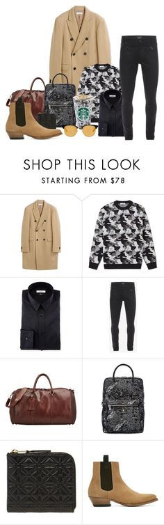 """""""Roadtrip"""" by miica-olavarria ❤ liked on Polyvore featuring Melindagloss, Gosha Rubchinskiy, Versace, Alexander McQueen, T. Anthony, Comme des Garçons, Marc Jacobs, Yves Saint Laurent, men's fashion and menswear"""