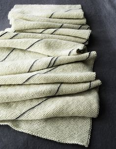 Ravelry: Diagonal Pinstripe Scarf pattern by Purl Soho - just knit stitches.