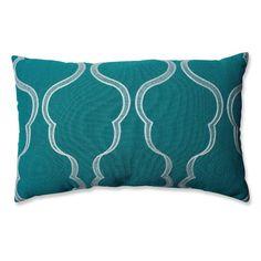 Found it at Wayfair - Cassie Aqua Lumbar Pillow