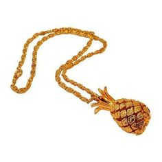 Weighted 3-D Pineapple Pendant ($69) ❤ liked on Polyvore
