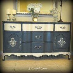 French Provincial Sideboard/Buffet. $375.00, via Etsy.