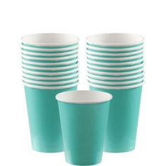 Robin's Egg Blue Paper Cups 20ct - Party City - for coffee