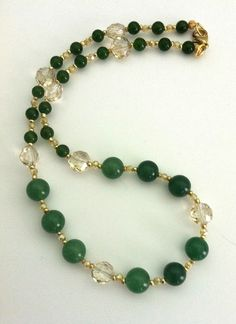 Priscilla Green Aventurine And Jade Necklace ~ for Sarah & Lauren!