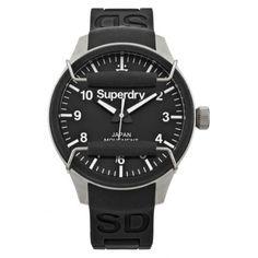 Superdry Mens Black Scuba Watch