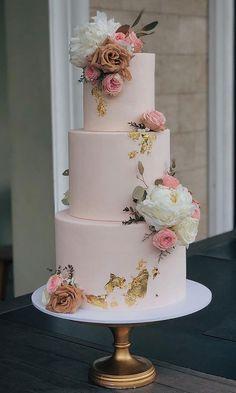 The 50 Most Beautiful Wedding Cakes, wedding cake ideas, amazing wedding cake cake decorating recipes kuchen kindergeburtstag cakes ideas Pretty Wedding Cakes, Floral Wedding Cakes, Amazing Wedding Cakes, Elegant Wedding Cakes, Wedding Cake Designs, Pretty Cakes, Wedding Themes, Beautiful Cakes, Amazing Cakes
