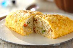 カニ入りオムライスのレシピ・作り方 - 簡単プロの料理レシピ   E・レシピ