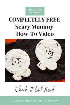 In this FREE how-to video, you'll get step-by-step instructions for how to make a super cute mummy cookie with royal icing. #thebearfootbaker #thecookienetwork Royal Icing Cookies, Sugar Cookies, Cookie Tutorials, Let's Create, Step By Step Instructions, Cookie Decorating, Scary, Halloween, Blog