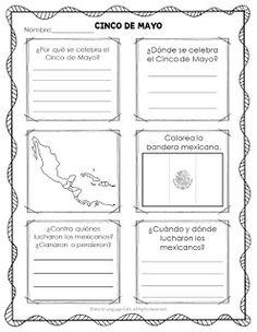 Cinco de Mayo Spanish Activities - Secondary Spanish Space