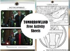 tomorrowland activity sheets