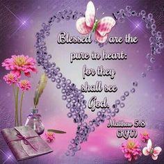 Matthew 5:8 KJV