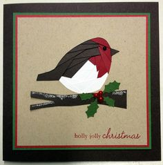 iris paper folding - Christmas robin