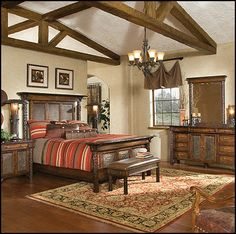 American Indian - rustic style - bedroom