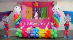 Globos (candyland) on Pinterest   Balloon Columns, Balloon Arch ...
