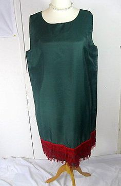 Fab Dressing Up CHARLESTON Flapper Dress Green with Red Fringe Size 18 in Clothes, Shoes & Accessories | eBay